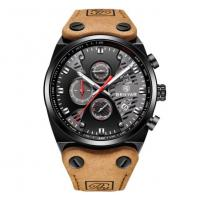 Quality Benyar Men Fashion Genuine Leather Band Hollowed Dial Waterproof 30m Chronograph for sale