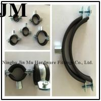 China Durable Round Insulated Pipe Clamps , M8 M10 Nut Rubber Coated Hose Clamps wholesale