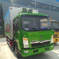China Howo Light Refrigerated Cargo Truck  3 Ton Capacity 4X2 Driving Type on sale