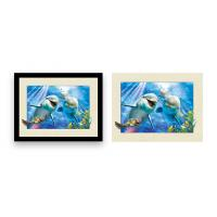 China 12x16 Inch Framed Dolphin Picture Wall Arts 3d Lenticular Picture For Home Decoration wholesale