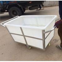China K500liter Rotomolding Large square Plastic storage laundry carts and trolley with wheels wholesale