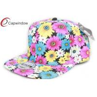 China Trendy Floral Acrylic Hip Hop Baseball Caps With Velcro Closure wholesale