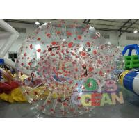 China Customized 1.00mm PVC Inflatable Human Zorb Ball For Outdoor Sport Game wholesale