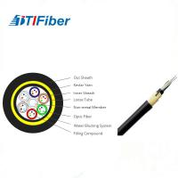 China Customized Length Fiber Optic Drop Cable , Fiber Optic Armored Cable Adss 24 Core wholesale