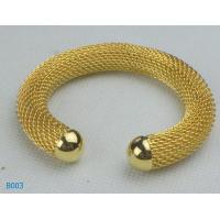 China Gold Color Charming Copper Alloy Jewelry Beaded Metal Bangles for Gift wholesale