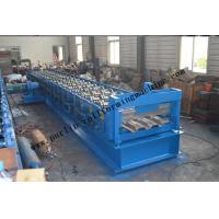 Quality Galvanized Steel Floor Deck Roll Forming Machine With Coiler Car , Floor Tile for sale