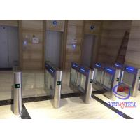 China High Class Swing Barrier Gate Two Way Lanes Automatic Card Swipe For Amusement Park wholesale