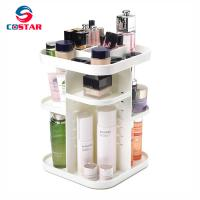 Four layers non-folding cosmetics rack standing type 360 degree rotation makeup organizer