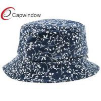 Quality Female Scale Cotton Fisherman Bucket Hat with Flower Graphic Printing for sale