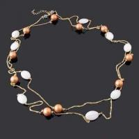 China Fashionable Necklace, Decorated with Imitation Pearl and Glass Beads, Available in Various Designs wholesale
