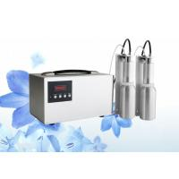 Silver aluminum commercial air freshener dispenser with