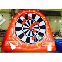 China Mini Inflatable Interactive Games Shooting Goal Game Dart Board For Football Games wholesale