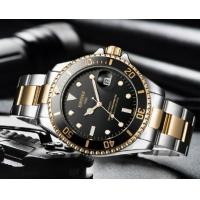 Quality Wholesale KINYUED Kelpy automatic stainless steel men mechanical watches  Luminous date week display watch JYD-J027 for sale