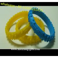 China Printing logo TIE DYE colors adjustable personalized silicone bracelets wholesale