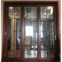 China Thermal Break Entrance Aluminum Folding Glass Door Accordion Sliding Closed wholesale