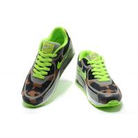 China Nike Air Max 90 Tape Fluorescent Green Grey Brown Mens Shoes Sales $62.98 on sale