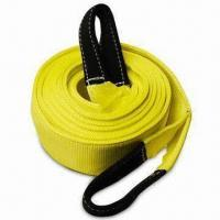 """China 4"""" Wide 2-Ply Recovery Tow Strap with 10"""" Cordura Eyes wholesale"""