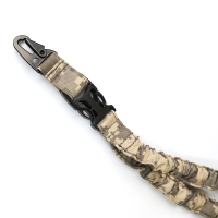 China Multi-Function Hunting Shooting Adjustable Tactical Single Point Bungee Gun Sling ACU Camo on sale