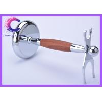Quality Double edge Shaving Brush And Razor Stand with chrome real bruma rosewood handle for sale