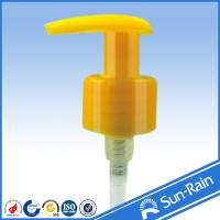 China Yellow 24mm plastic lotion pump for lotion bottles wholesale