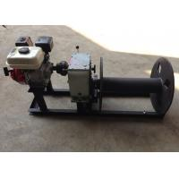 China Cable Winch Puller 3 Ton Gas Engine Powered Cable Drum Winch for Hoisting wholesale