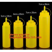 China FDA Food Grade 8oz Empty Custom LDPE Plastic Ketchup Squeeze Bottle with Scale for Syrup, Sauce, Ketchup, BBQ Sauce, Con on sale