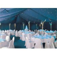 China Waterproof White Large Wedding Tents With Roof Linings / Curtains  20m * 50m wholesale