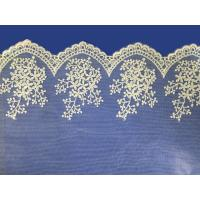 China African lace fabrics Embroidery Lace Fabric cord guipure white lace fabric wholesale