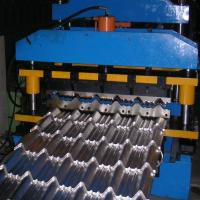 China 8-12m / Min Roof Panel Roll Forming Machine , Metal Glazed Tile Forming Machine wholesale