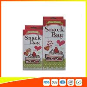 China Custom Colored Printed LDPE Reusable Ziplock Snack Bag / Sandwich Bags wholesale