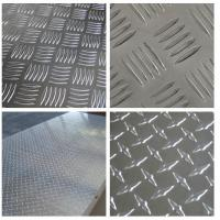 Quality Embossed High Glossy Aluminium Checker Plate 12000mm Length For Interior for sale