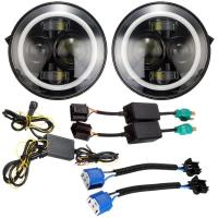 China Angel Eyes Halo Car Lights IP 68 6500K-7000K Halo Jeep Headlight Work Light wholesale