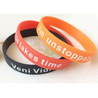 Adult Logo Depressed And Dyed Custmozied Promotional Silicone Rubber Wristbands