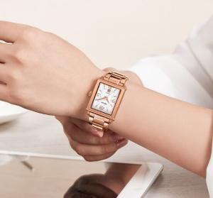 Quality MEGIR Classic Simple Fashion Ladies 3 ATM Waterproof Steel Strap Quartz Wrist for sale