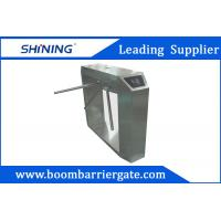 China Dynamic LED Electrical Tripod Turnstile Gate 1.2m Height With Bar Code Reader wholesale