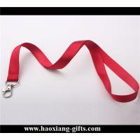 China High Quality Fashion custom no MOQ  printing red color 20*900mm  polyester lanyards wholesale