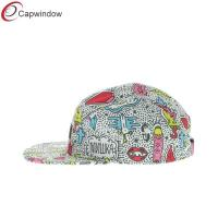 Quality Youth Hella Stuff 5 Panel Camper Cap , Pure Polyester Strapback Hat for sale