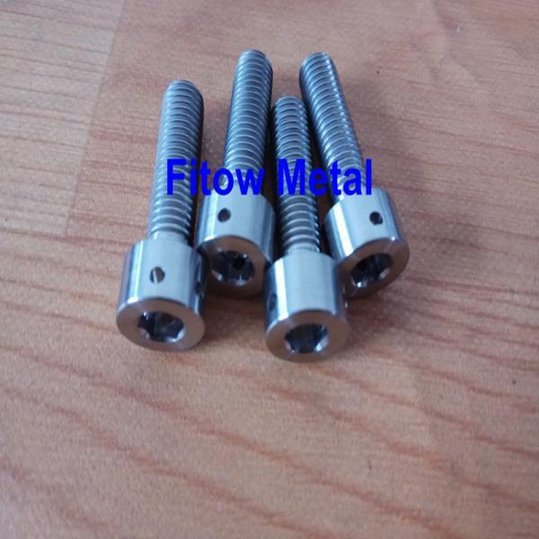 Quality Hot sales DIN6921 GR5 Titanium Alloy Bolts, Titanium Auto Screws, Titanium Nuts manufacturer / supplier for sale