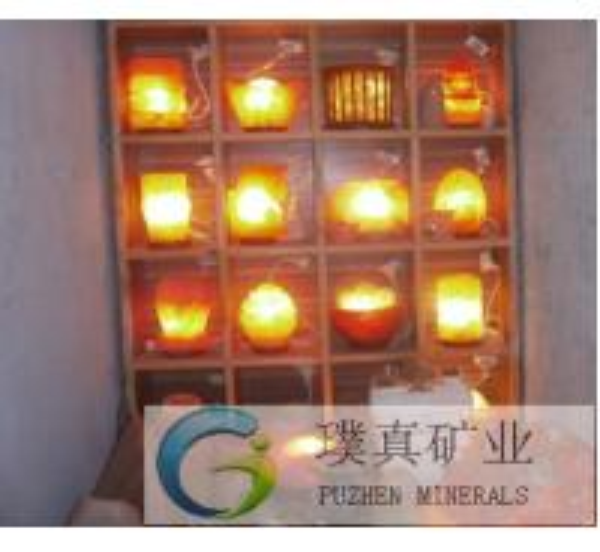 Himalayan Salt Lamp pyramid shape Rock Salt negative ions generator of item 105636503