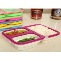 China Easy - Clean Eco Silicone Collapsible Lunch Box Non Stick FDA / LFGB Standard wholesale