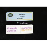 China Rectangle Pin Plastic Name Badges / Personallised Magnetic Name Tag wholesale