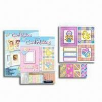 China Handicraft Card Kit with Printed Card, String, Rubber Stamp, Sponge Label and Color Ink wholesale