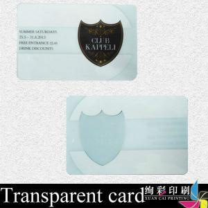 China Hot Stamping Transparent PVC Card Printing / Bank Credit Card wholesale