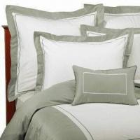 China Bed Linen, Made of Cotton with Printed or Embroidery, Various Colors are Available on sale
