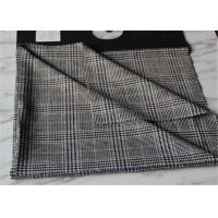 Quality Criss Cross Strip Tartan Wool Fabric Houndstooth Causal Suit / Pants With Vertical Line for sale