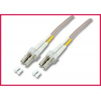 China OM3 LC to ST 2 Cores Fiber Optic Patch Cable, Multimode Gray LSZH Optic Cable on sale