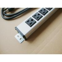 Metal 6 Outlet Surge Protector Power Strip , Mountable Multiple Plug Socket