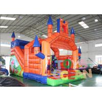 China Orange Inflatable Jumping Castle Inflatable Bounce House For Fun wholesale