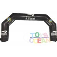 China Black Full Printing Advertising Inflatables PVC Inflatable Entrance Arch Custom Logo wholesale