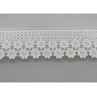 China Water Soluble Daisy Venice Guipure Lace Trim , Embellishment Wedding Lace Border wholesale